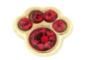7- July Paw (Ruby Crystal) Charm For Lockets
