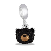 Bear Face Crystal Bead by DaVinci