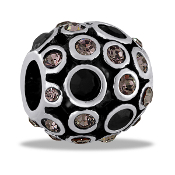 Smoky Crystals Decorative Orb Bead by DaVinci