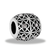 Black and Silver Bracketed Decorative Bead by DaVinci