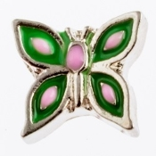 Green Butterfly Charm For Lockets