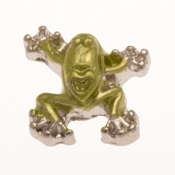 Climbing Gree Frog Charm For Lockets