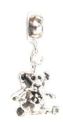 Teddy Bear Silver Bead By Amanda Blu®