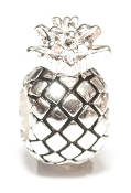 Pineapple (welcoming/vacation) Silver Plate Bead by Amanda Blu®