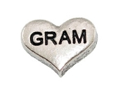 GRAM Silver Heart Charm For Lockets