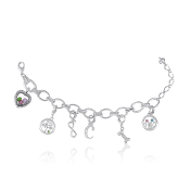 Charm Bracelet for Forever In My Heart Dangles - No Charms Inc.