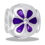 Purple Flower Bead  - TRUNK SALE - No Further Discounts