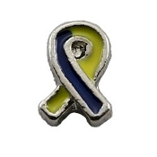 Downs Syndrome Ribbon Charm for Lockets