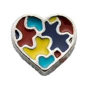 Autism Heart Charm For Lockets
