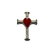 Cross with Heart Charm For Lockets