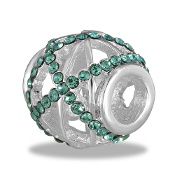 Turquoise Crystal Cutout Bead By DaVinci®