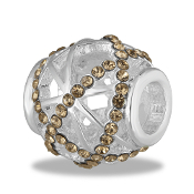 Champagne Crystal Cutout Bead By DaVinci®