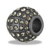 Gunmetal Crystal Bead By DaVinci®