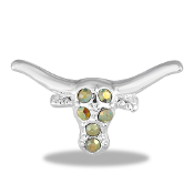 Longhorn Bull Large Charm by Forever In My Heart® Lockets