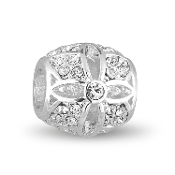Silver Flower Crystal Decorative Bead by DaVinci®