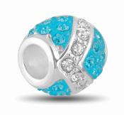 Ocean and Silver Decorative Crystal Bead by DaVinci®