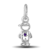 February Boy Charm by The DaVinci® Heart of Family Collection