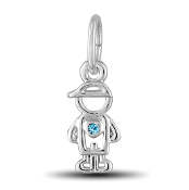 March Boy Charm by The DaVinci® Heart of Family Collection