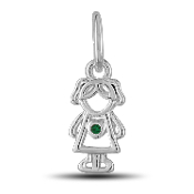 May Girl Charm by The DaVinci® Heart of Family Collection