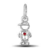July Boy Charm by The DaVinci® Heart of Family Collection