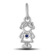 September Girl Charm by The DaVinci® Heart of Family Collection
