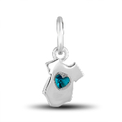 Blue Onesie Charm by The DaVinci® Heart of Family Collection