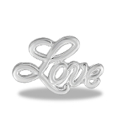 LOVE Script Large Charm for Keepsake Lockets