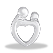 Mother & Child Heart Large Charm for Keepsake Lockets