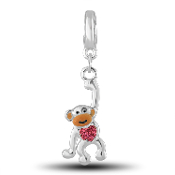 Monkey Crystal Drop Accessory by Forever In My Heart® Lockets