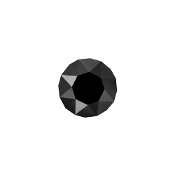 Black Round Crystal Charm for Lockets