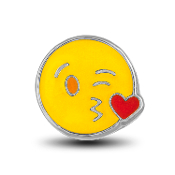 Kiss Emoji Charm for Lockets