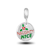 Naughty or Nice Charm for Beaded Jewelry