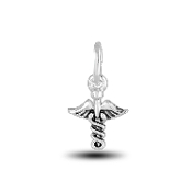 Caduceus Charm Bead for DaVinci Inspirations® Jewelry