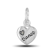 Heart Dance Charm Bead for DaVinci Inspirations® Jewelry
