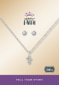 CROSS Necklace w/Earring Set Pre-Designed by DaVinci Charms