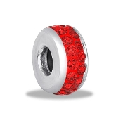 Red Crystal Stopper Bead For The DaVinci Collection