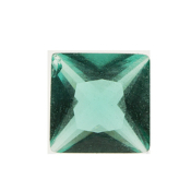 3- March Square Crystal Birthstone Charm