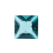 12- December Square Crystal Birthstone Charm