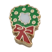 Christmas Wreath Charm for Floating Oragami Owl Type Lockets