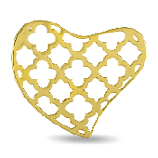 Heart Background Gold Disc for Forever in My Heart Lockets