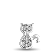 Cat with Crystal Charm for Forever in My Heart Lockets