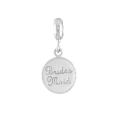 BRIDESMAID Dangle Coin Bead For The DaVinci Collection