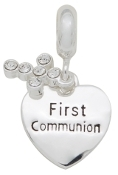 FIRST COMMUNION  Dangle Bead For The DaVinci Collection