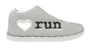 RUN Shoe with Heart Charm for Forever in My Heart Lockets