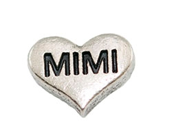 MIMI Silver Heart Charm For Lockets
